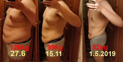 Ketoosidietillä yli 50kilon laihdutus
