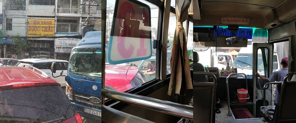 bussi jumissa Saigonissa