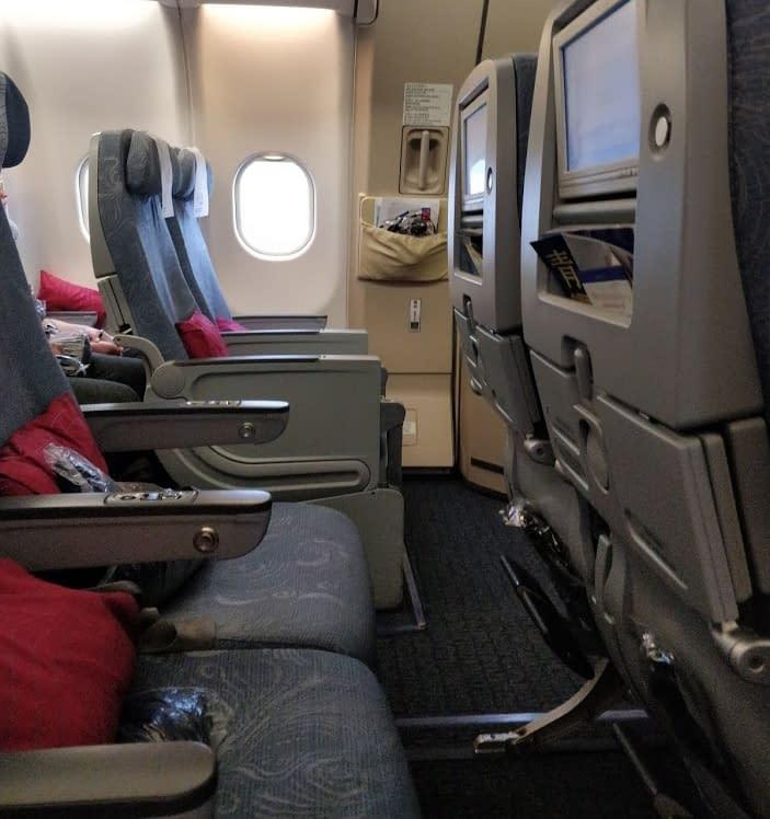 Air china lentokone sisältä
