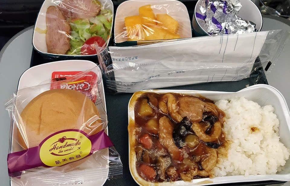 Airchina Lennolla tarjottava ateria